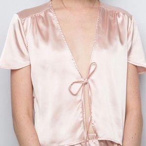 NWOT brandy Melville silk top